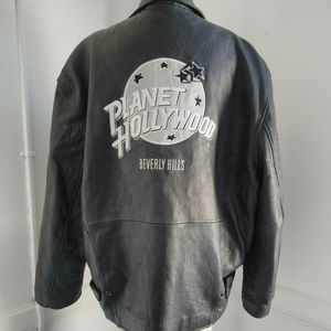 Planet Hollywood Beverly Hills Leather Jacket Lg